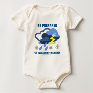 Be Prepared For Inclement Weather (Storm Clouds) Baby Bodysuit