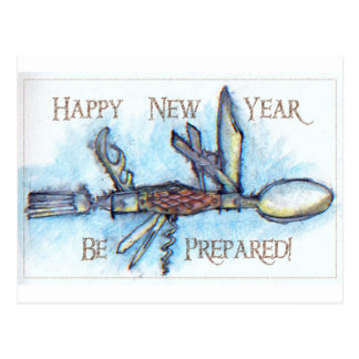 Be Prepared for New Year Postcard