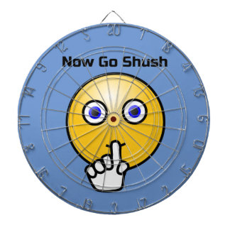 Be Quiet Go Shush Emoticon Dartboard