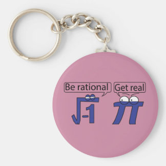 Be Rational! Get Real! Basic Round Button Keychain
