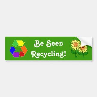 Be Seen Recycling! Bumper Sticker