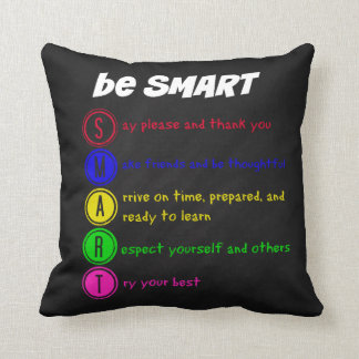 Be Smart Throw Pillow