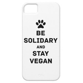 Be solidary and stay vegan iPhone 5 cover