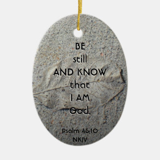 Be Still and Know Bible Verse Ornament