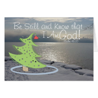 Be Still and Know God Bible Verse, Christmas Card