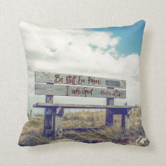 Be Still and Know I am God Bible Verse Throw Pillow