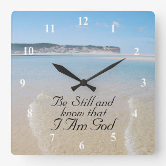 Be Still and Know I AM GOD Scripture Psalm 46:10 Wallclock