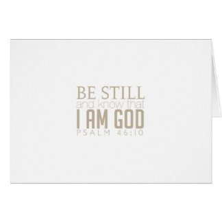 Be Still And Know Notecard