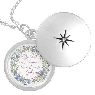 Be Still and Know - Psalm 46:10 Silver Plated Necklace