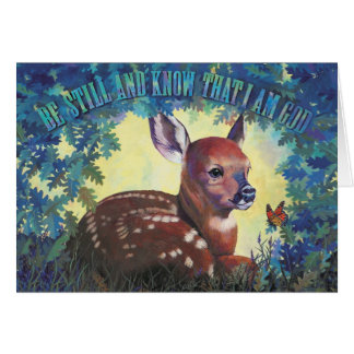 Be Still and Know That I Am God  - by Kathy Morrow Card