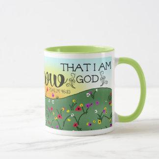 Be Still and Know That I am God Psalm 46:10 Mug