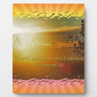 BE STILL AND KNOW THAT I AM GOD -PSALM 46:10 PLAQUE
