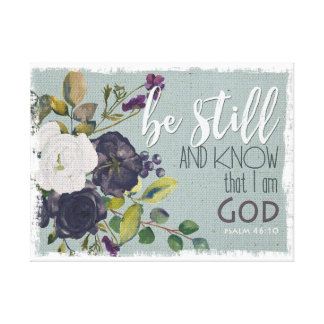 be still and know vintage bible verse canvas art
