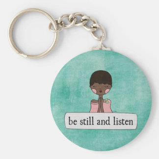 Be Still and Listen by Linda Tieu Keychain