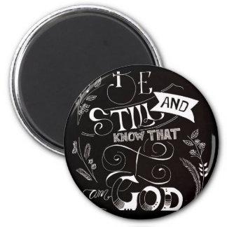 Be still black 2 inch round magnet