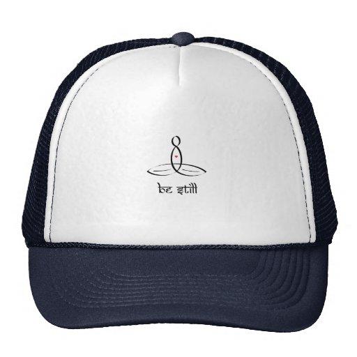 Be Still - Black Sanskrit style Hat