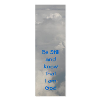 Be Still (Clouds) Bookmark Business Cards