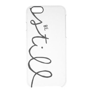be still handlettered clear iPhone case