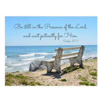 Be Still in the Presence of the Lord, Psalm 37:7 Postcard