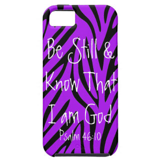 Be Still Know bible verse Psalm 46 10 iPhone 5 Covers