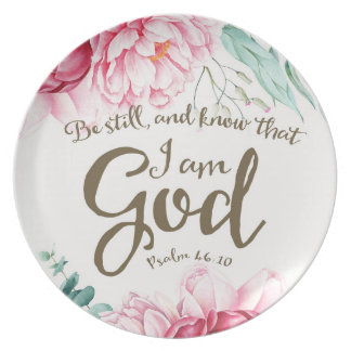 Be Still Melamine Plate