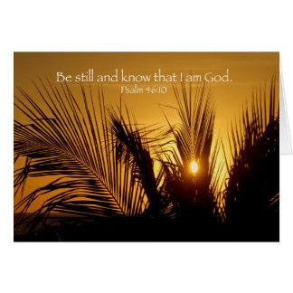 Be Still Sunset Card