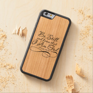 Be still carved® cherry iPhone 6 bumper