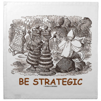 Be Strategic (Through The Looking Glass Chess) Cloth Napkins