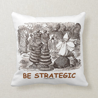Be Strategic (Through The Looking Glass Chess) Pillow