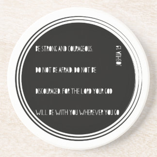 """Be Strong and Courageous"" Bible verse from Joshua Coaster"