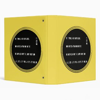 """Be Strong and Courageous"" Bible verse from Joshua Vinyl Binder"