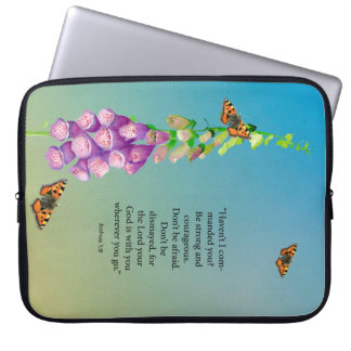 Be strong and courageous don't be afraid. Joshua 1 Computer Sleeve