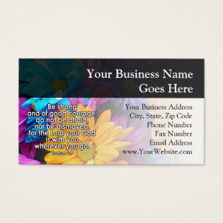 Be Strong Bible Scripture Business Card