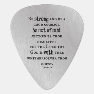 Be Strong Bible Verse Guitar Pick