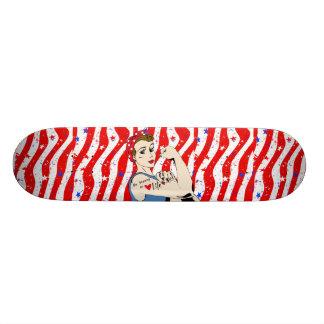 """Be Strong in Life"" Patriotic Women inspirational Skateboard Decks"