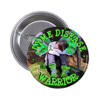 BE STRONG LYME DISEASE WARRIOR fairy  BUTTON