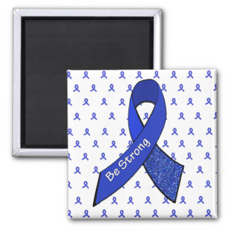 Be Strong Magnet with Blue Awareness Ribbons