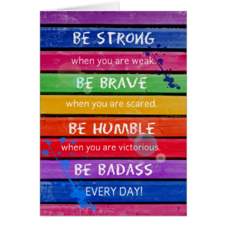 Be Strong - Note Card