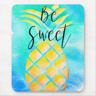 Be Sweet - Boho Tropical Watercolor Mouse Pad