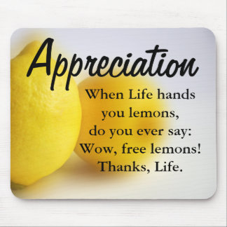 Be thankful and count your blessings mousepads