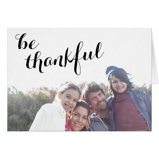 Be Thankful | Customisable Thanksgiving Photo Card