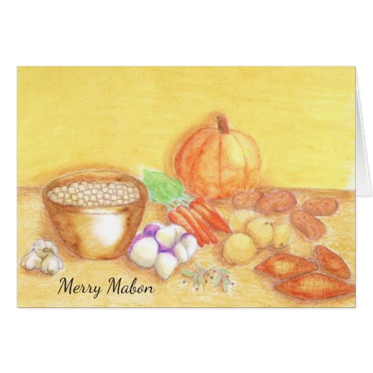 Be Thankful for Vegetables Mabon Harvest Home Card