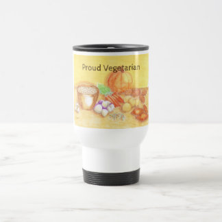 Be Thankful for Vegetables Vegetarian Vegan Travel Mug