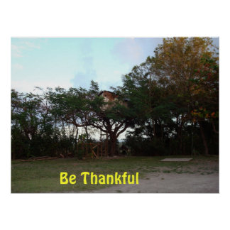 Be Thankful Poster