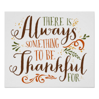 Be Thankful Whimsical Script | Thanksgiving Poster