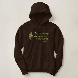 Be the Change embroidered sweatshirt