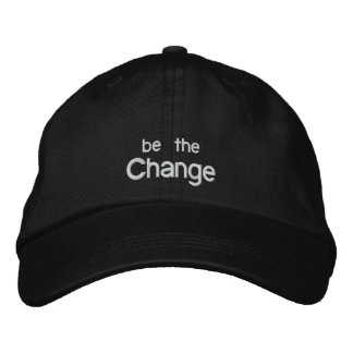 Be the Change Embroidery Hat /Black Embroidered Hats
