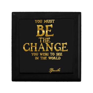 Be The Change - Gandhi Inspirational Action Quote Gift Box
