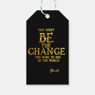 Be The Change - Gandhi Inspirational Action Quote Gift Tags