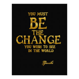 Be The Change - Gandhi Inspirational Action Quote Letterhead